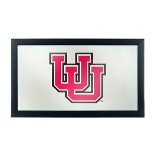 University of Utah Logo and Mascot Framed Mirror