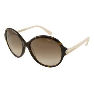 Tom Ford Womens TF0343 Milena Round Sunglasses