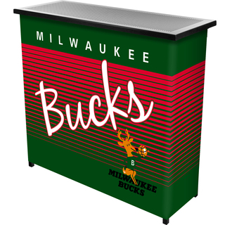 Milwaukee Bucks Hardwood Classics NBA Portable Bar w/Case