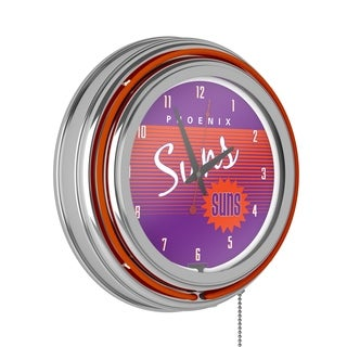Phoenix Suns Hardwood Classics NBA Chrome Neon Clock