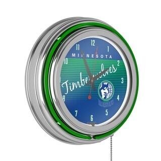 Orlando Magic Hardwood Classics NBA Chrome Neon Clock #0: P