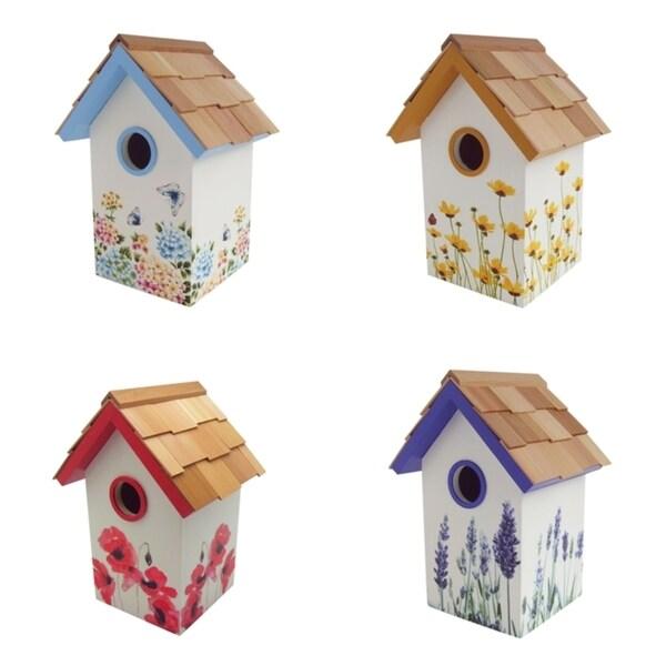 Printed Flower Standard Birdhouse