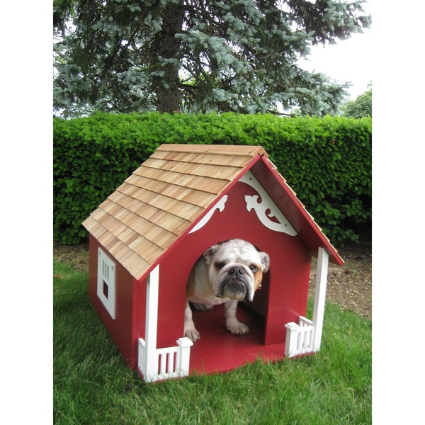 Heart Red Dog House
