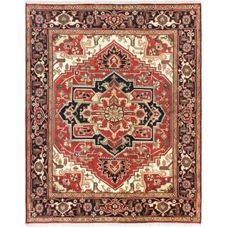 ecarpetgallery Serapi Heritage Brown Wool Rug (7'11 x 9'10)