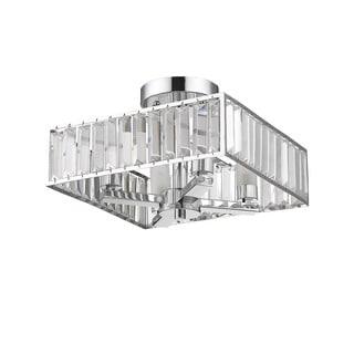 Chloe Lighting Contemporary 4-light Chrome Semi Flush Mount Light