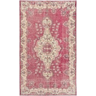 ecarpetgallery Anatolian Sunwash Red Wool Rug (5'7 x 9'2)