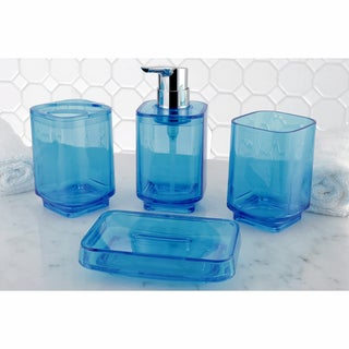 Blue 4-Piece Bath Accessory Set
