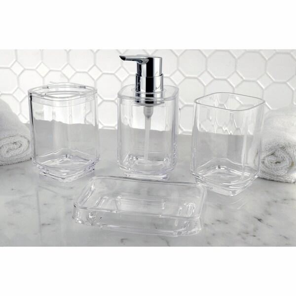 4 Piece Clear Acrylic Bathroom Accessories Set At Of Clear Bathroom ...