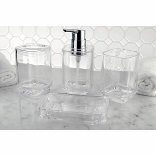 Clear 4-Piece Bath Accessory Set