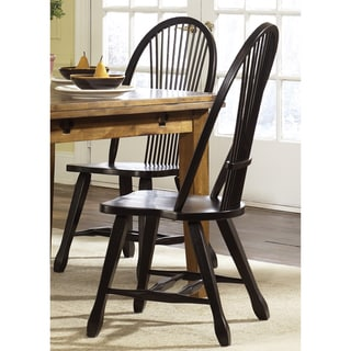 Treasures Rustic Black Sheaf Back Side Chair