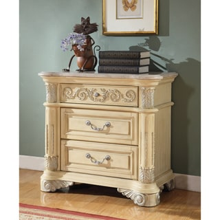 Tribecca Home Tusca Traditional Weathered White Finish Dresser And Mirror 18357582 Overstock