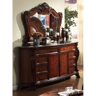 Meridian Cherry Finish Luxor Solid Wood Mirror