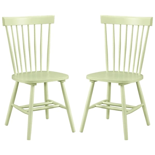 Dunner Danish Design Spindle Back Mint Green Dining Chairs (Set of 2)