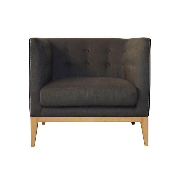 Aurelle Home Rose Club Chair Dark Grey