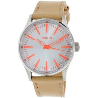 Nixon Women's Sentry A3772089 Beige Leather Quartz Watch