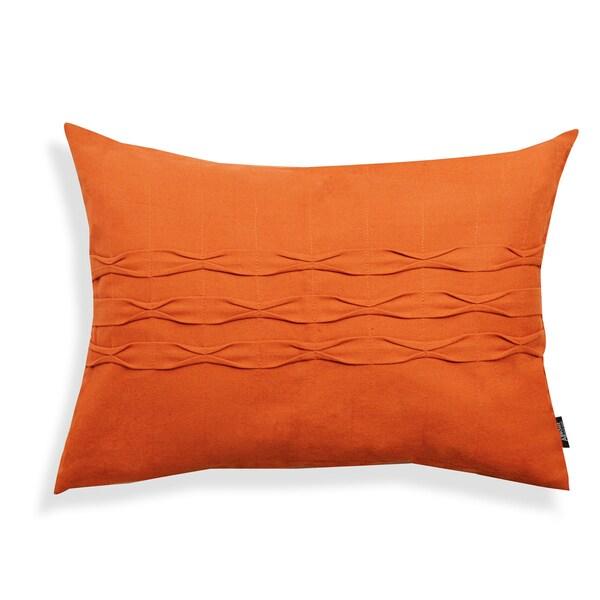 A1 Home Orange Oblong Cotton Throw Pillow