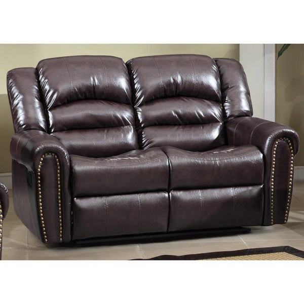 SB Meridian Chelsea Dual Reclining Loveseat with Nailhead Detail