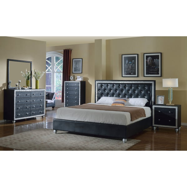 Meridian Black Mirage Bedroom Set