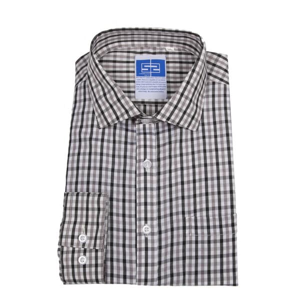 Complicated Shirts Men's Grey Plaid Shirt