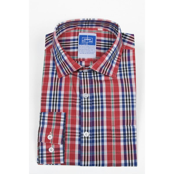 Complicated Shirts Men's Red Plaid Shirt