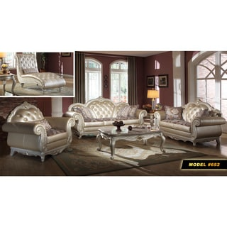 Meridian Marquee Living Room Set with Reversible Cushions