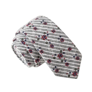 Skinny Tie Madness Men's Dirty Rotten Scoundrel Grey Novelty Printed Tie