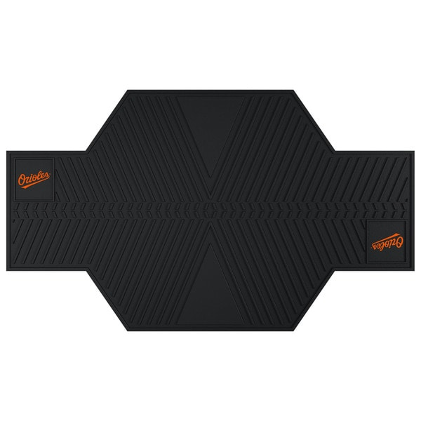Fanmats Baltimore Orioles Black Rubber Motorcycle Mat