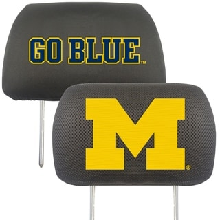 Fanmats Michigan Wolverines Collegiate Charcoal Head Rest Covers Set of 2