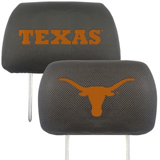 Fanmats Texas Longhorns Collegiate Charcoal Head Rest Covers Set of 2