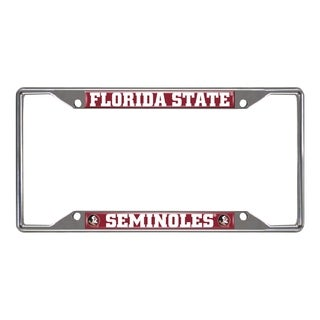 Fanmats Florida State Seminoles Chrome Metal License Plate Frame