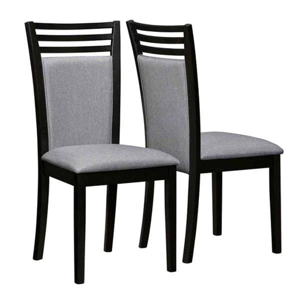 Ramona Style Hardwood Gray Upholstered Dining Chairs (Set of 2)