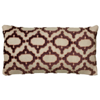 Rizzy Home Ogee Pattern Throw Pillow