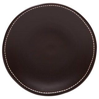 Red Vanilla 10.75-inch Saddle Stitch Dinner Plate (Set of 4)
