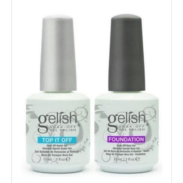 Gelish Soak Off Foundation Base and Top it Off Set