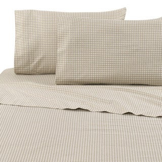 Vellux Houndstooth Flannel Sheet Set