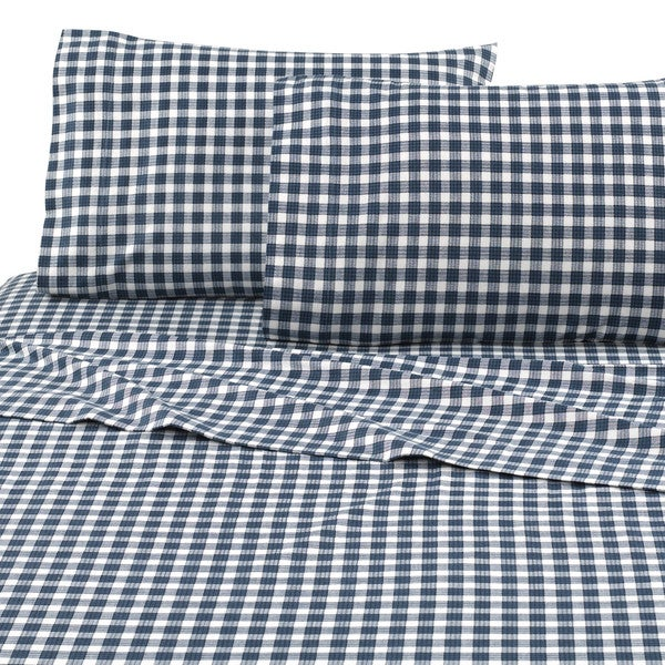 Vellux Check Flannel Sheet Set