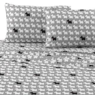 Vellux Scotty Dog Flannel Sheet Set