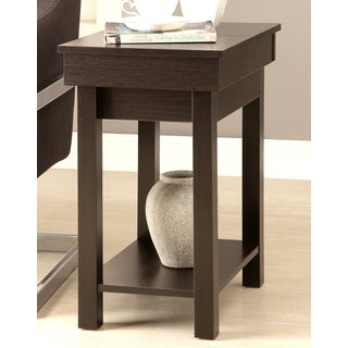 Cheval Modern Design Cappuccino Phone Stand/ Snack Side Table