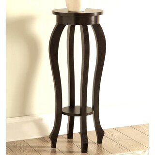 Atrium Curved Design Cappuccino Plant Stand/ Side Table