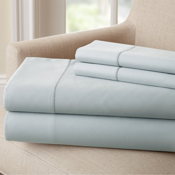 1500 Thread Count Cotton Rich Solid 4 Piece Sheet Set