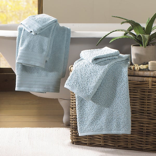 6-Piece Jacquard/Solid Baroque Towel Set
