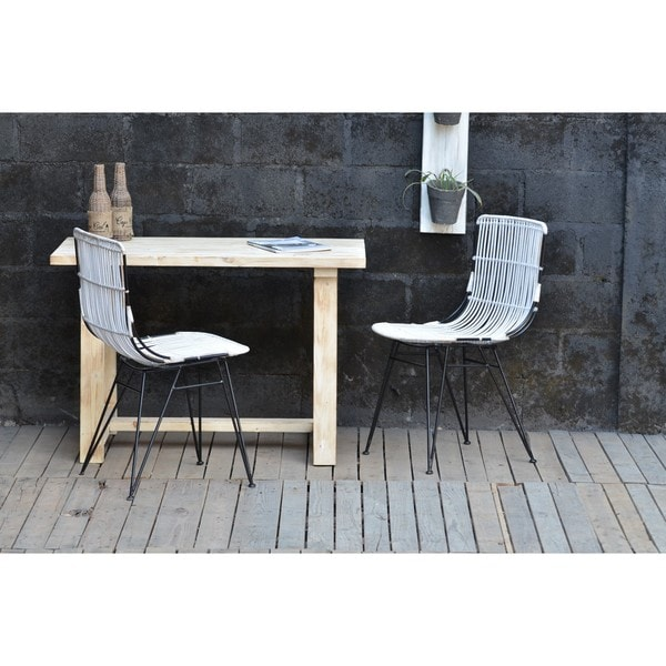 Gemini Rattan Chair White