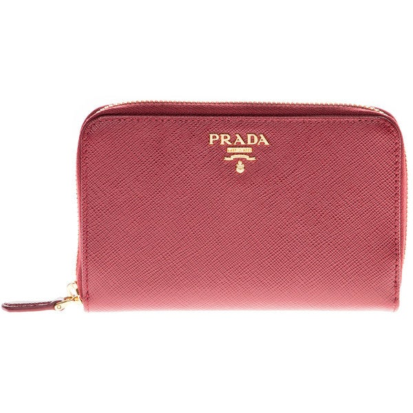 Prada Saffiano Leather Small Zip Wallet