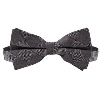Skinny Tie Madness Men's Dela Where? Black Textured Bowtie (Pre Tied)