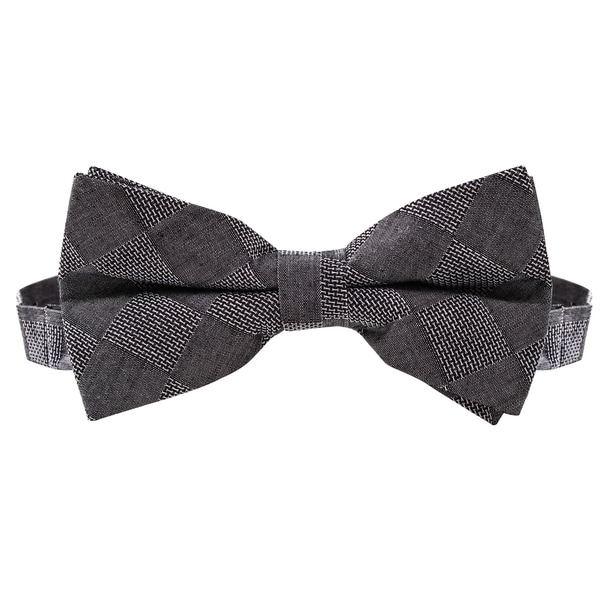 Skinny Tie Madness Men's Dela Where? Black Textured Bowtie (Pre Tied)