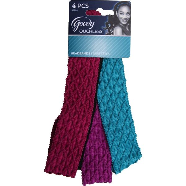 Goody Ouchless Lycra Hair Wrap (Pack of 4)
