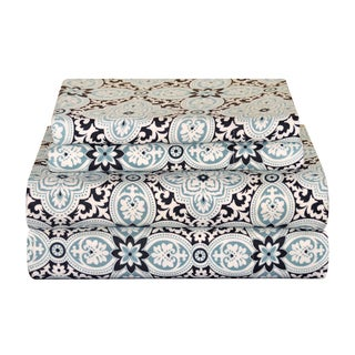 Pointehaven Heavy Weight Flannel Deep Pocket Sheet Set - Ankara