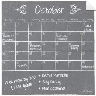 Grey Dry Erase Monthly Calendar Decal
