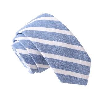 Skinny Tie Madness Men's Run Sancho Run Blue Stripe Skinny Tie
