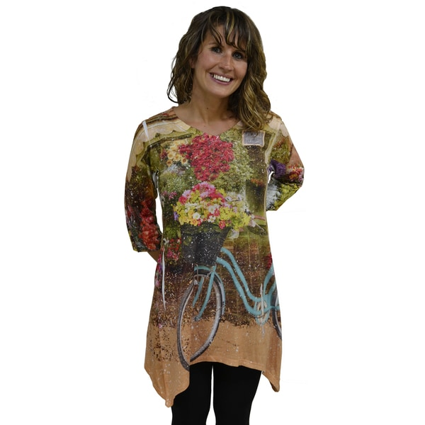 Artisans Apparel Women's 'Nostalgic Flower Shop' Sublimated Trinity T-Shirt